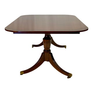Vintage Mahogany Baker Furniture Historic Charleston Collection Dining Table For Sale