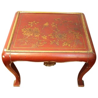 20th Century Lacquered and Painted Wood Japanese Side Table or Sofa Table For Sale