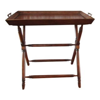 Solid Wood Tray Top Table For Sale