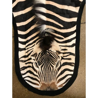 Burchel Zebra Skin Lined Rug Preview