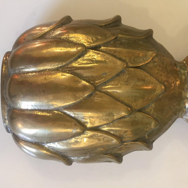 Brass Pineapple Door Knocker For Sale - Image 4 of 7