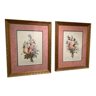Mid 20th Century Rouette Hand Printed Engravings, Framed - a Pair For Sale