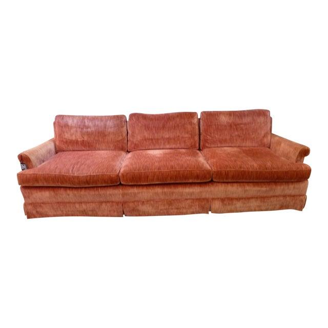 Coral Velvet Sofa For Sale
