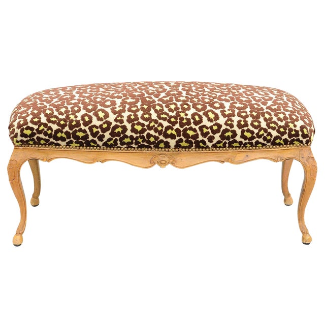 Louis XV Style Upholstered Bench For Sale