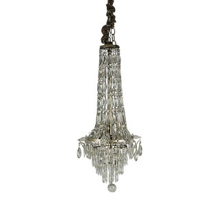 1900 French Belle Epoque Cut Crystal Pendant For Sale