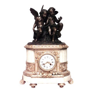 French Louis XVI Cupid Mantel Clock For Sale