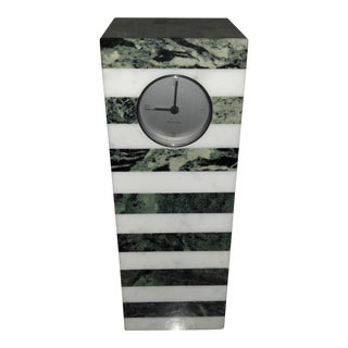 Vintage Koch & Lowy Montecito Art Deco Marble Clock For Sale
