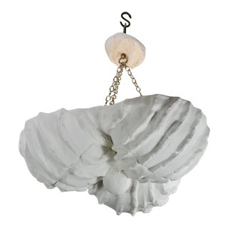 Three Shells Plaster Chandelier For Sale