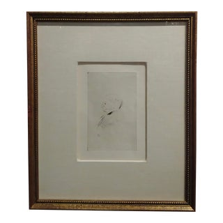 Toulouse-Lautrec - Portrait of a Man Profile - Original Vintage Etching For Sale
