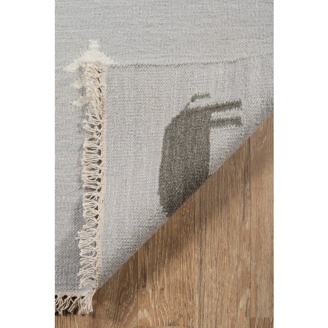Erin Gates by Momeni Thompson Porter Grey Hand Woven Wool Area Rug - 7′6″ × 9′6″ For Sale In Atlanta - Image 6 of 9