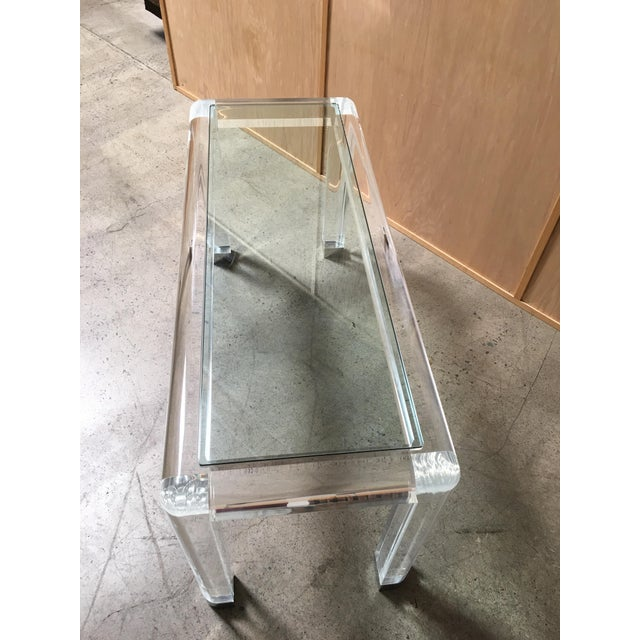 20th Century Lucite Console Table For Sale - Image 10 of 13