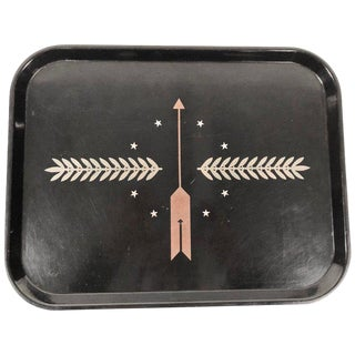 Art Deco George Switzer Inlaid Resin Tray for Micarta, Circa 1930s For Sale