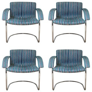 Italian Mid-Century Chairs by Saporiti Italia- Set of 4 For Sale