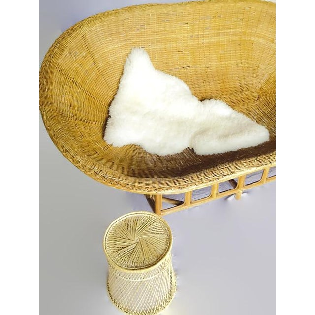 1970s Vintage Bamboo & Rattan Scoop Sofa - Image 7 of 10