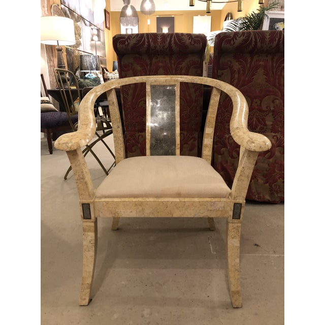 Vintage Stone Chair For Sale In Charleston - Image 6 of 6