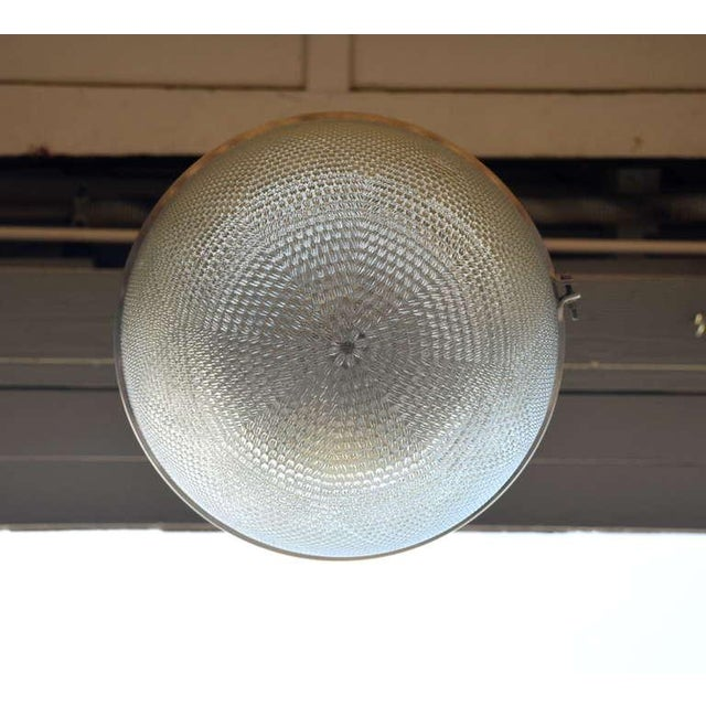 Glass Single Hanging Pendant Industrial Street Light For Sale - Image 7 of 8