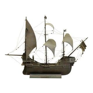 Brass Santa Maria Ship Sculpture For Sale