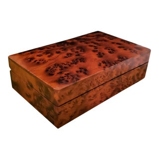 Mid 20th Century Solid Burlwood Box For Sale