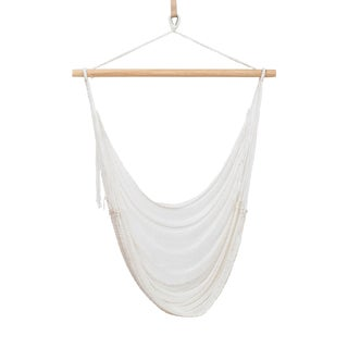 Nylon Alba Swing in Shell White + Walnut Rod For Sale