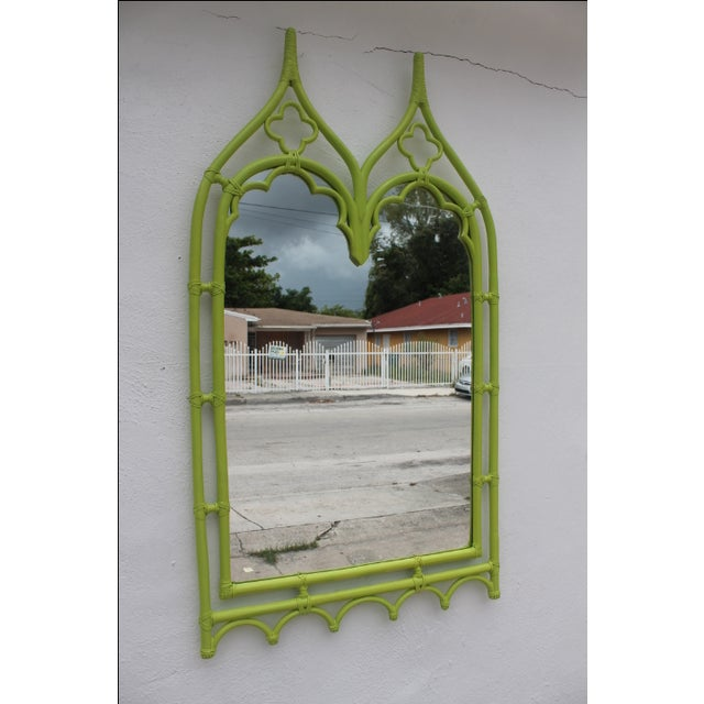 McGuire Bamboo Double Arch Wall Mirror - Image 2 of 9