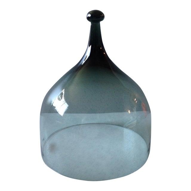 Hadeland Scandinavian Green Glass Cheese Bell - Image 1 of 7
