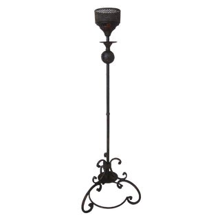 British Colonial Style Iron Candle Holder For Sale