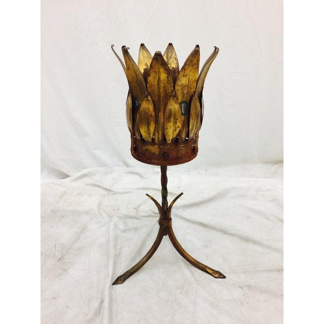 Antique Gold Tole Planter - Image 5 of 11