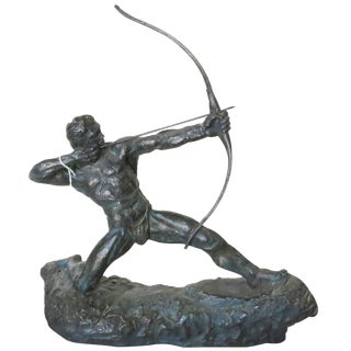 """""""Man With Bow"""" Archer Sculpture by Thomas Holland For Sale"""