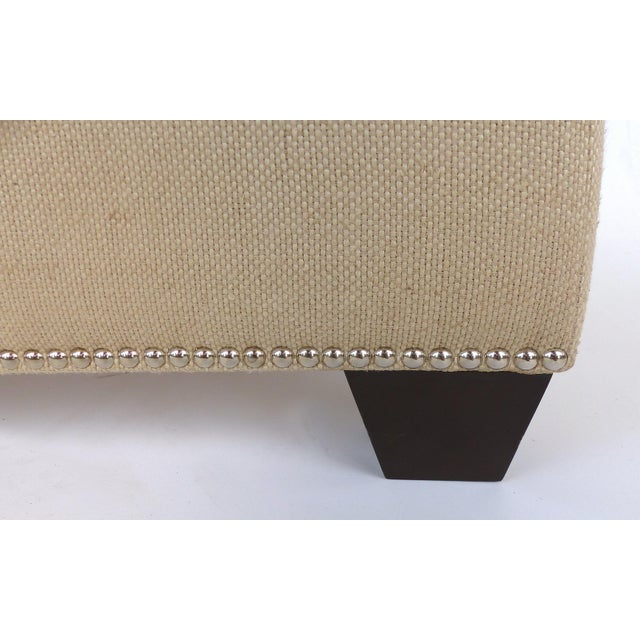 Upholstered Blanket Chest Bench With Nail-Head Details For Sale In Miami - Image 6 of 8