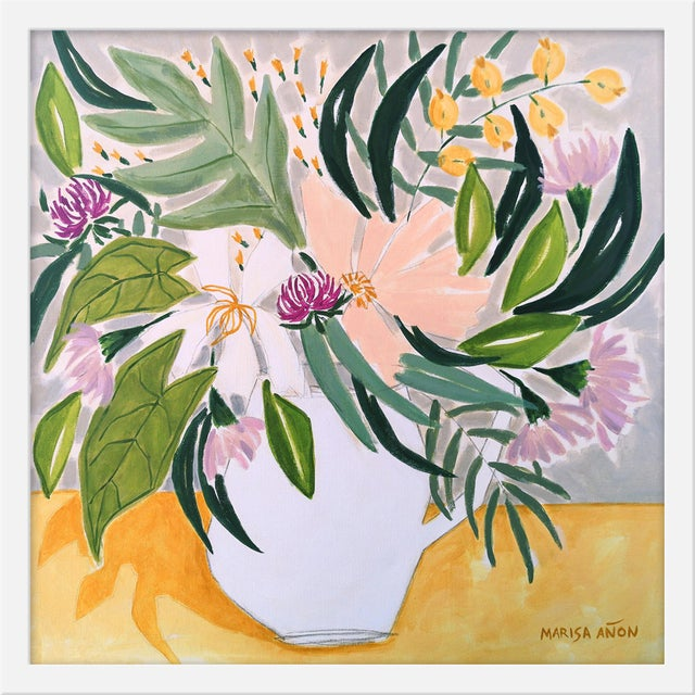 "Small ""Flowers From Chelva"" Print by Marisa Anon, 20"" X 20"" For Sale"