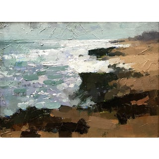"Pöyhönen Contemporary Framed Seascape ""Windy Day"" For Sale"