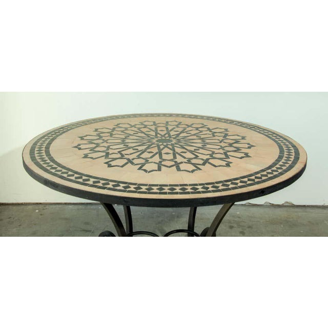 Moroccan Mosaic Tile Table in Fez Moorish Design For Sale - Image 4 of 11