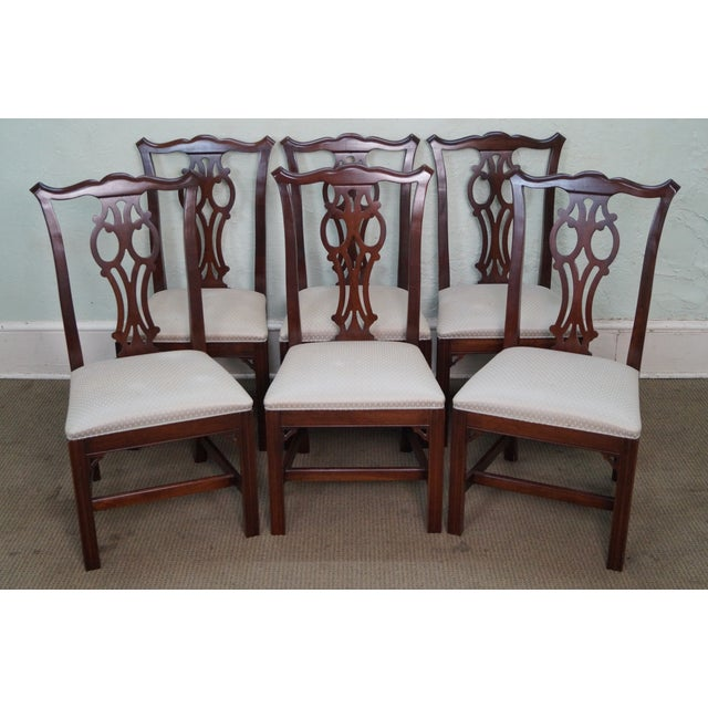 Ethan Allen Georgian Court Chippendale Style Dining Chairs