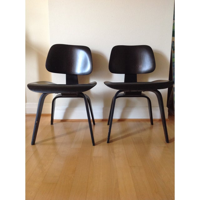 Black Charles Eames Dcw for Evans Products Co. & Herman Miller - A Pair For Sale - Image 8 of 11