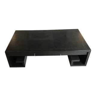 1970s Mid-Century Modern Baker Furniture Greek Key Coffee Table For Sale