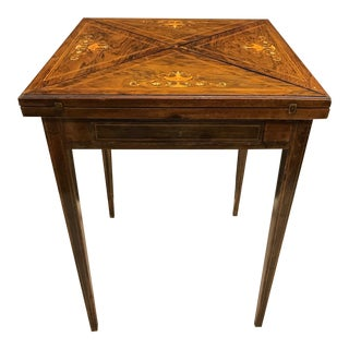 French Rosewood Inlay Handkerchief Game Table
