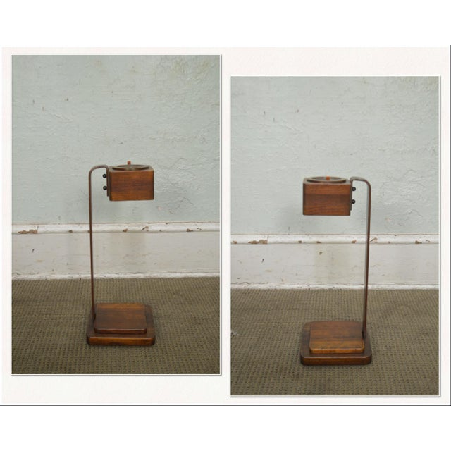 *STORE ITEM #: 18264 Art Deco Vintage Pair of Mahogany Smoke Stands Possibly Gilbert Rhode AGE / ORIGIN: 1930s, America...