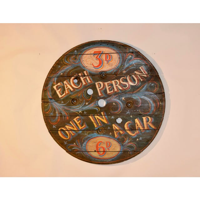 Early 20th Century 20th C English Decorated Spool Sign For Sale - Image 5 of 5