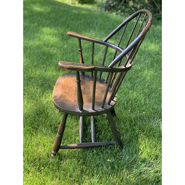 American Wooden Windsor Firehouse Chair For Sale - Image 3 of 13