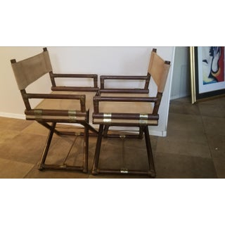 Vintage McGuire Director's Chairs - a Pair Preview