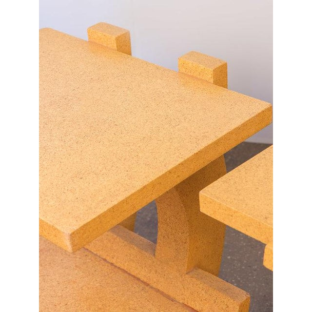 1990s Kevin Walz Cork Side Tables - a pair For Sale - Image 5 of 11