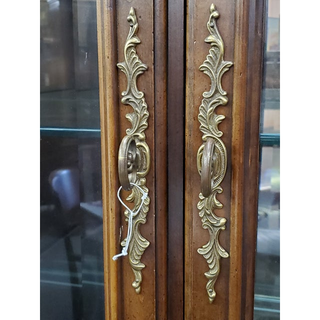 Brown Vintage China Cabinet For Sale - Image 8 of 13