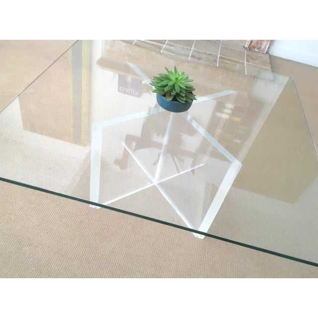 Mid-Century Lucite & Glass Coffee Table