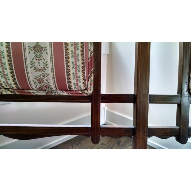 Edwardian Settee Beautifully Reupholstered For Sale - Image 4 of 8