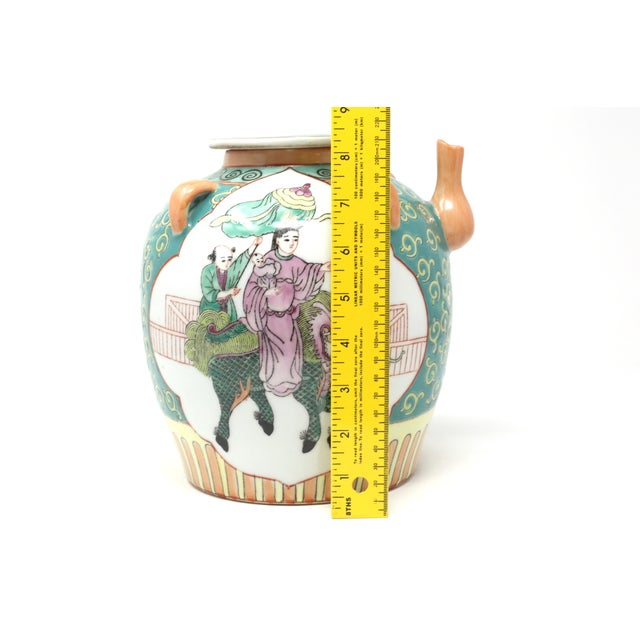 Vintage Chinese Decorative Lidded Water Jug For Sale - Image 12 of 13