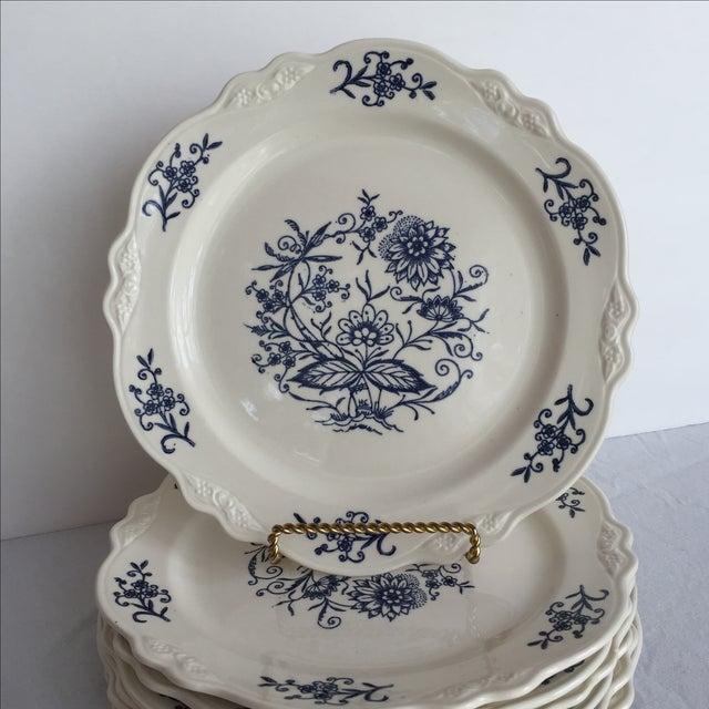 Blue Dresden Plates - Set of 7 - Image 8 of 10
