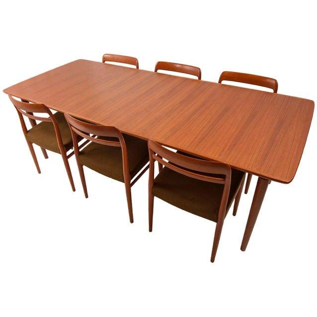 Norwegian Expanding Teak Dining Set - Image 1 of 10