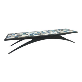Kagan Style Mid-Century Modern Tile Coffee Table For Sale