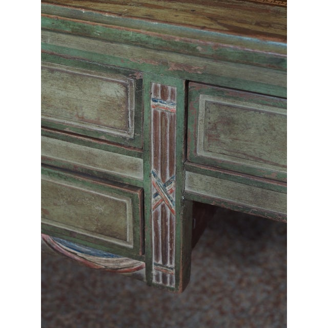 "Blue ""French Revolution"" Polychrome Desk For Sale - Image 8 of 9"
