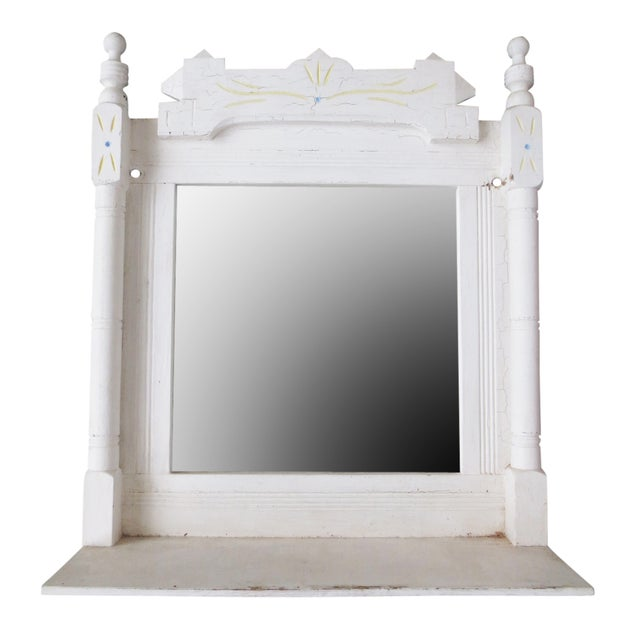 Victorian Mirror With Shelf - Image 1 of 6